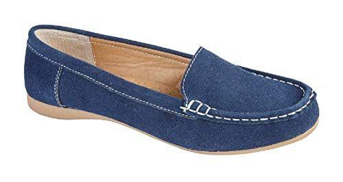 GladRags Mocassins pour Femme Bleu Bleu Marine 38 23