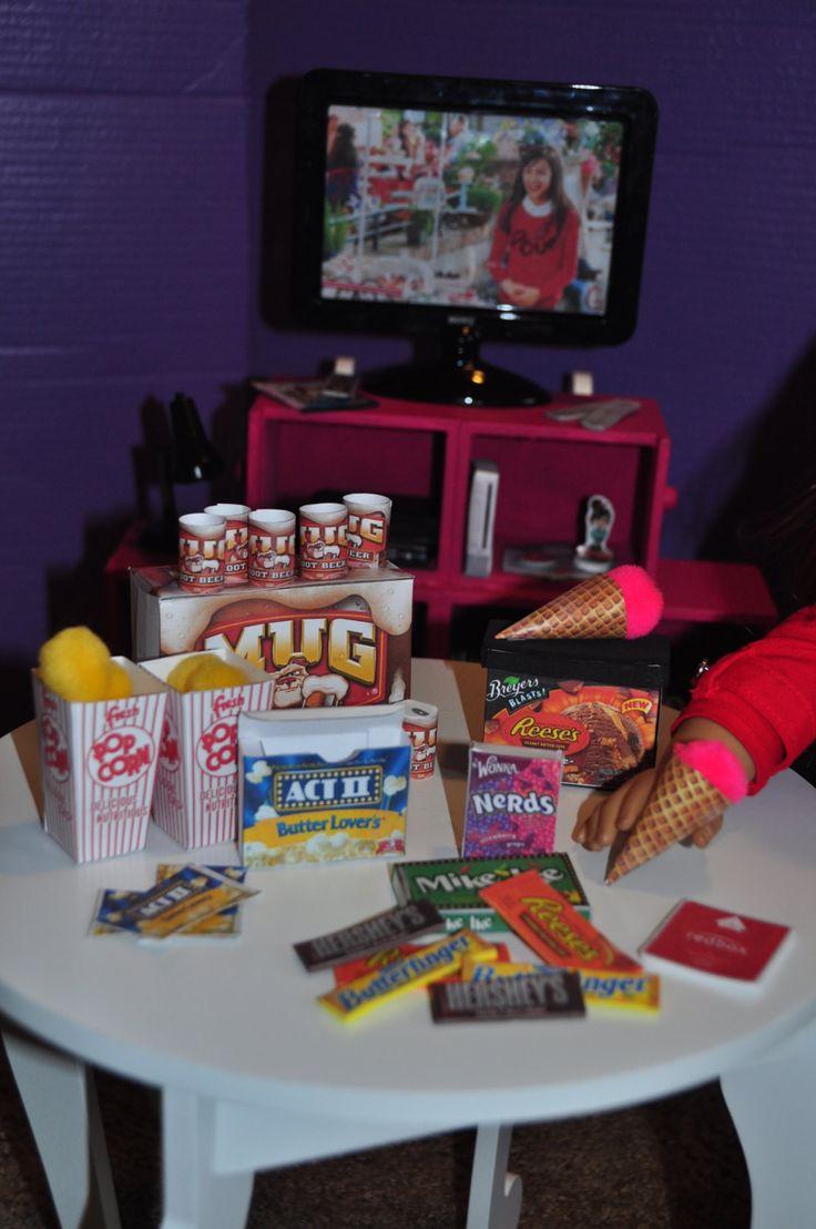 American Girl 18 inch Doll Movie Night Food by gleefulbambino on Etsy