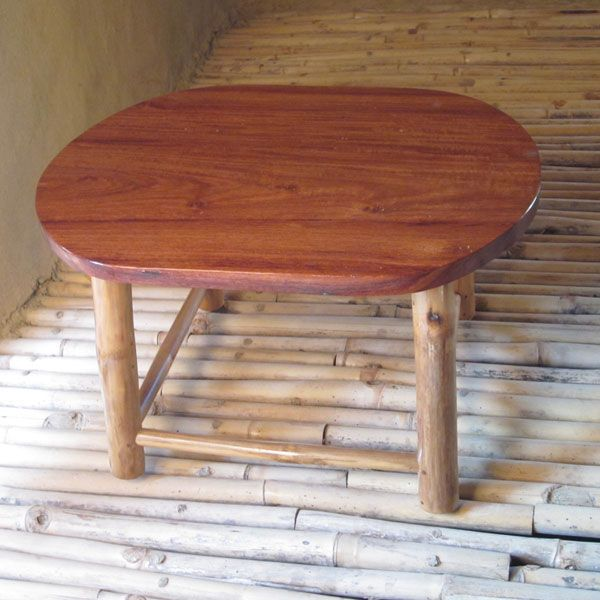 Furniture Small Bamboo Oval Coffee Table