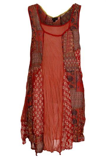 Threadz clothing Floral Patch Tunic - Womens Short Dresses at Birdsnest