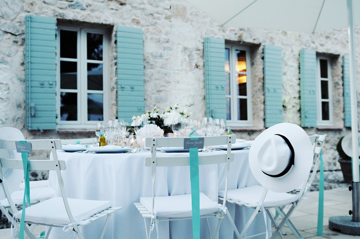 beautiful: French Country Homes, Inspiration, Wedding Ideas, Color, Blue, Table Setting, French Wedding, French Girlfriends
