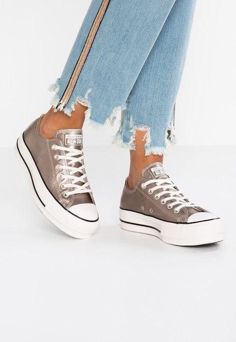 b1891ea82f11 Converse CHUCK METALLIC PLATFORM - Trainers - gold/black/snow white -  Zalando.co.uk
