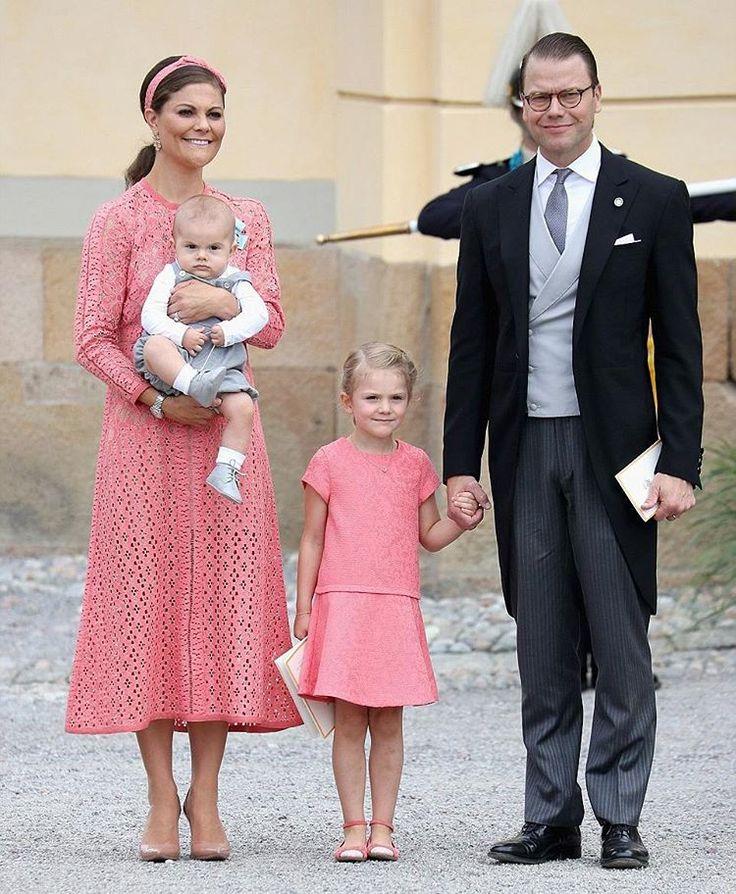 Crown Princess Victoria, Prince Daniel, Estelle and Oscar today❤ Kronprinsessan…