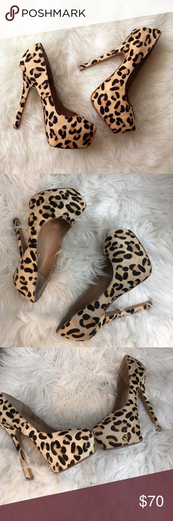 SM Dejavu Desire Cheetah Heels Steve Madden Cheetah Print High Heel Platforms. Size 6.5. EUC. 💛Please send reasonable offers through the offer button!💛 Steve Madden Shoes Heels