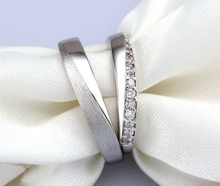 Sterling Silver CZ His and Hers Matching promise rings for valentines