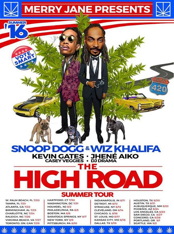 New PopGlitz.com: Wiz Khalifa & Snoop Dogg Announce 'The High Road Tour' Feat. Jhene Aiko & Kevin Gates - http://popglitz.com/wiz-khalifa-snoop-dogg-announce-the-high-road-tour-feat-jhene-aiko-kevin-gates/