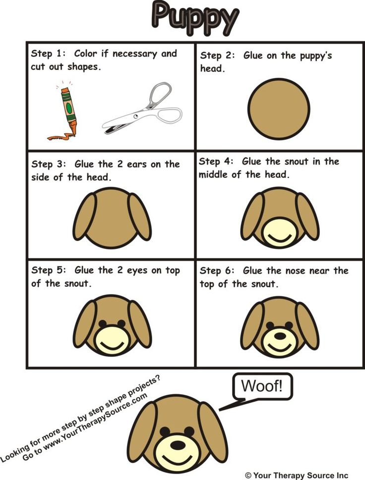 Step By Step Puppy Shape Free Sample