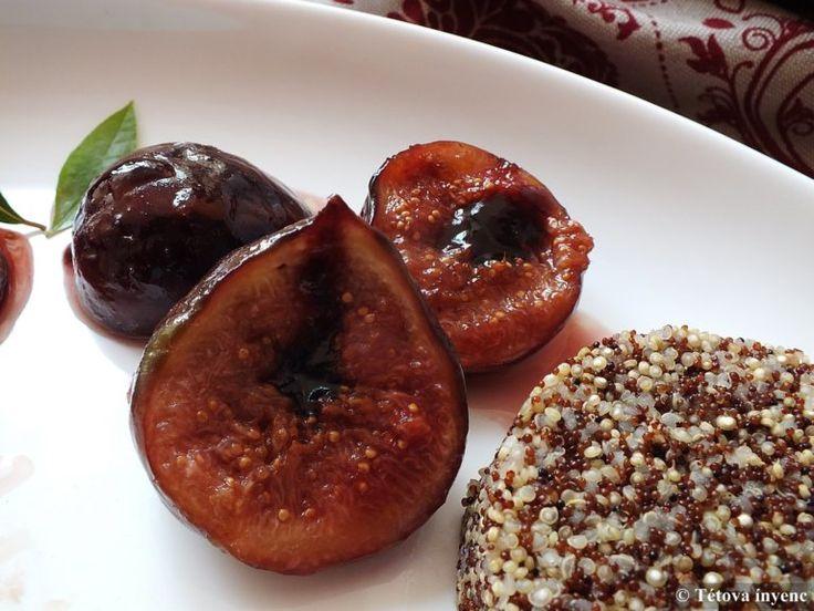 Rosé kacsamell grillezett fügével, balzsamecetes szőlőszósszal, quinoával | Tétova ínyenc