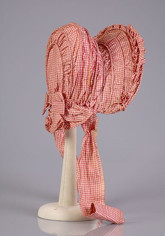 Bonnet, 1860 civil war era fashion