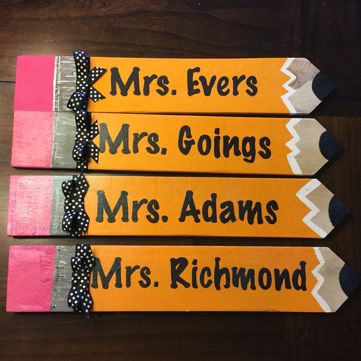 Pallet pencils for teacher gifts hand painted on pallets