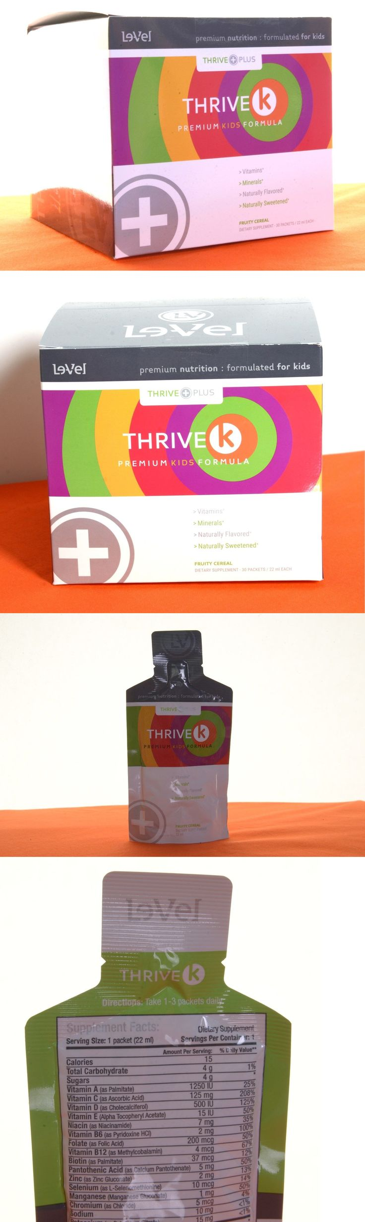 Dietary Supplements: Le-Vel Thrive K - Plus For Kids - 30 Gel Packs Very Fresh. Sealed From Le-Vel BUY IT NOW ONLY: $39.97