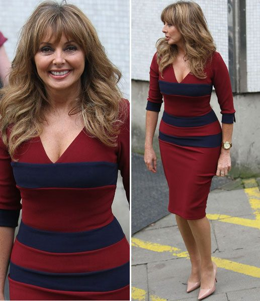 Carol Vorderman reveals hourglass figure in clinging dress | Showbiz | News | Daily Express