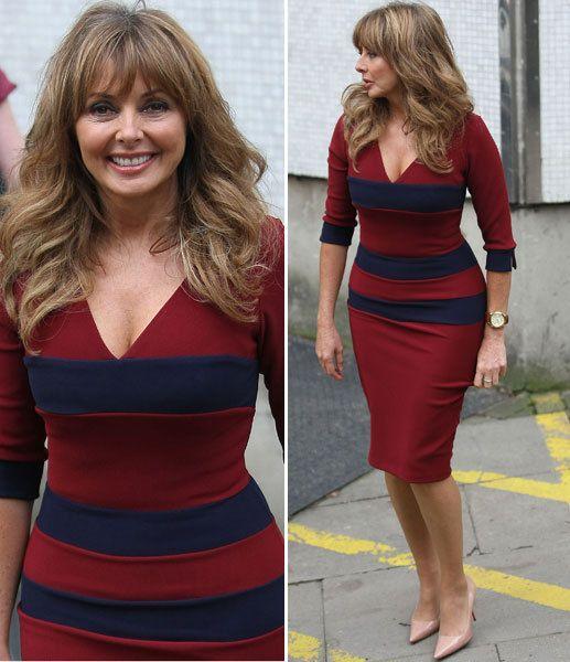 Carol Vorderman reveals hourglass figure in clinging dress | Showbiz | News | Daily Express