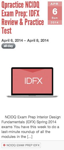 NCIDQ IDFX Review Practice Test