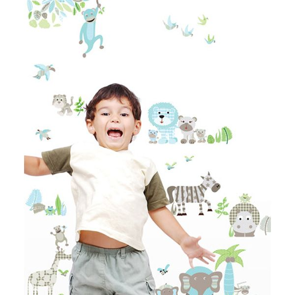 Jungle Fever Customisable Patterned Wall Stickers - $79.95 : Bellas Little Ones Australia, ErgoBaby Carrier Nursery Wall Stickers Kids Wall Decals Manduca Baby Carrier