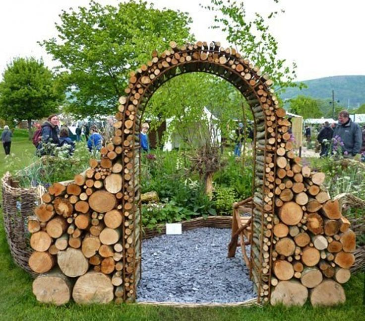 Arch of logs