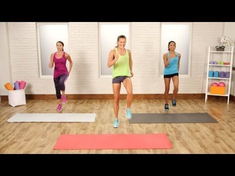 20-Minute No-Running Cardio Workout | Class FitSugar - YouTube