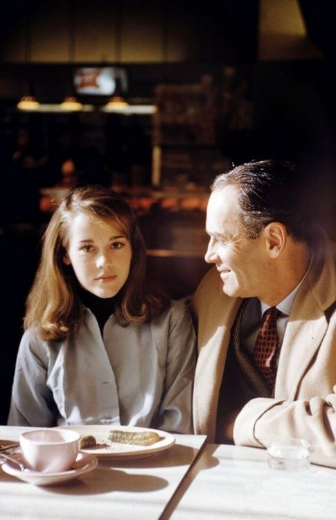 A young Jane Fonda with her father Henry.