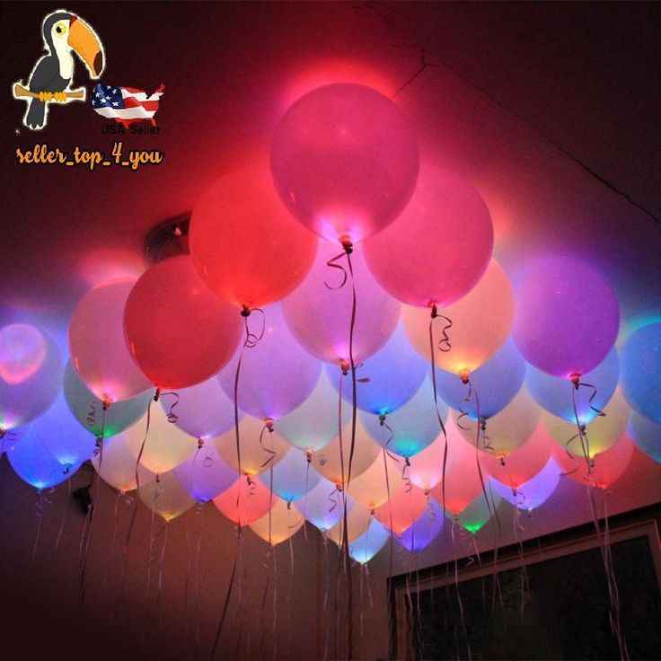 30 Pack LED Light Up Balloons Flashing Valentines Day Party Lights Decorations #GIGALUMI #Multipurpose