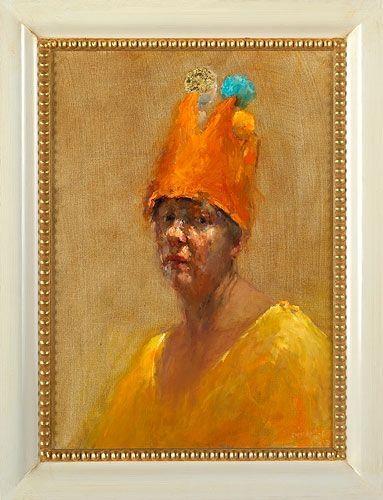 Dinie Boogaert, Self-portrait, oil on canvas 2006, 70x50cm