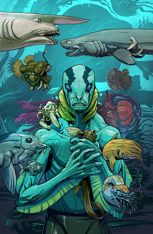 The evolution of Abe Sapien - contest entry by ~Onikaizer