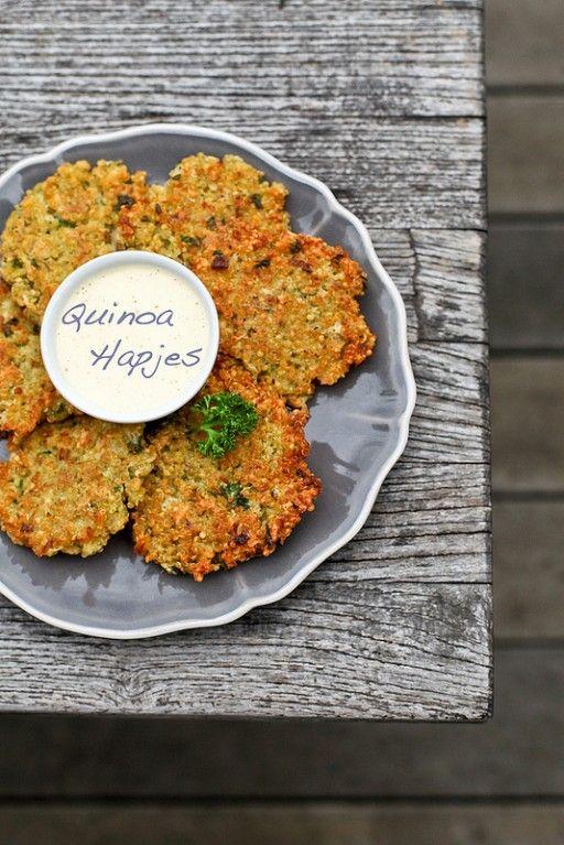Culy: Vegetarisch quinoa hapje (bloem vervangen door amandelmeel of fijngemalen havermout)