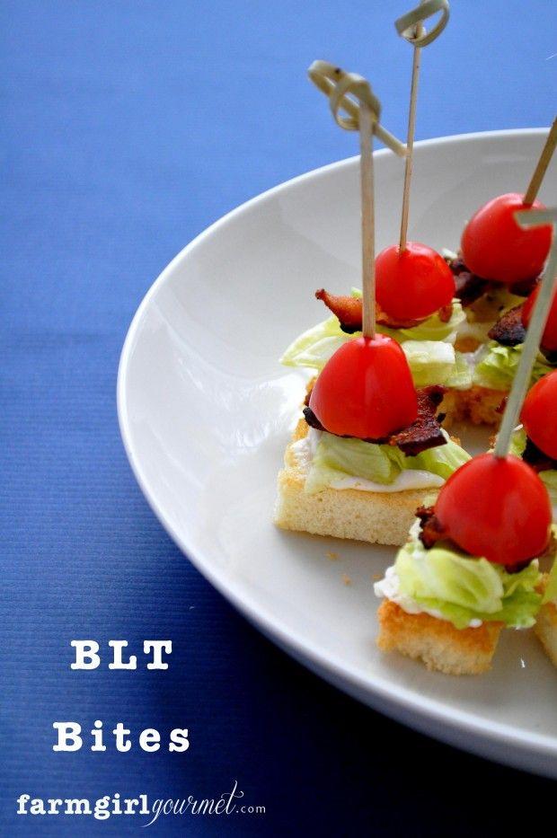 BLT Bites via farmgirlgourmet.com
