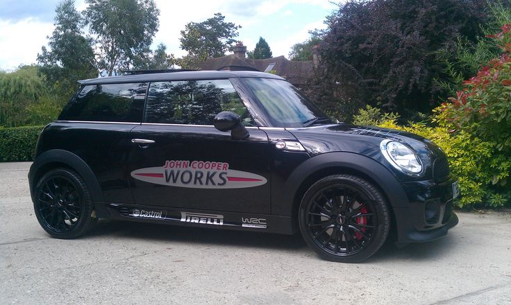 John Copper Works Mini with custom graphics.