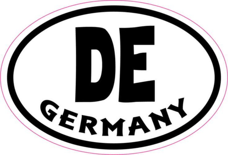3in x 2in Oval DE Germany Sticker Vinyl Cup Decal Bumper Stickers