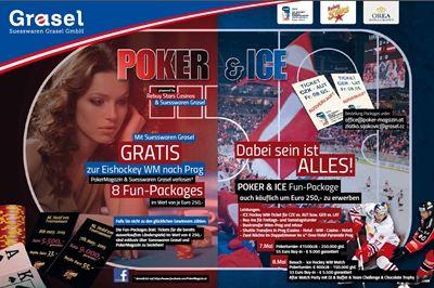 Poker und Eishockey erwartet die Besucher am 7. und 8. Mai in Prag, denn hier findet die Eishockey WM statt. Neben dem besonderen sportlichen Highlight werden gleichzeitig spannende Pokerturniere angeboten.  Poker und Ice in Prag warten im Mai auf die Spieler