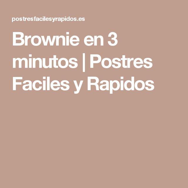 Brownie en 3 minutos | Postres Faciles y Rapidos