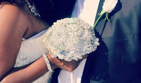 wedding ring design Gorgeous Swarovski Crystal 12inch Brooch bouquet