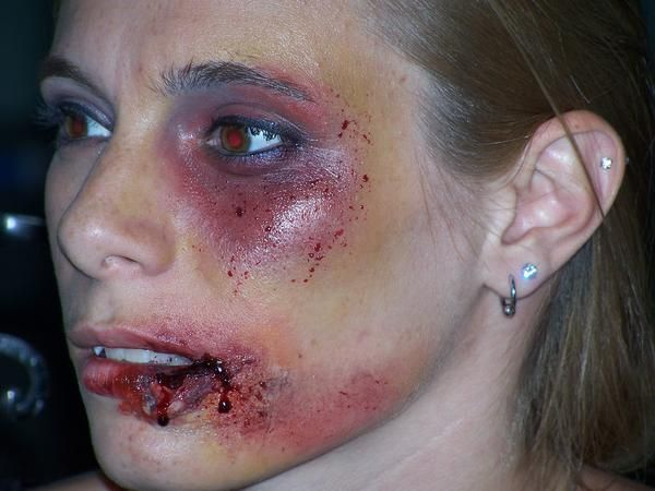 Gallery For Gt Cuts On Face Makeup Gore Injuries Theatre