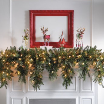 204 curated christmas is coming ideas by amyewalker for Christmas garland on fireplace