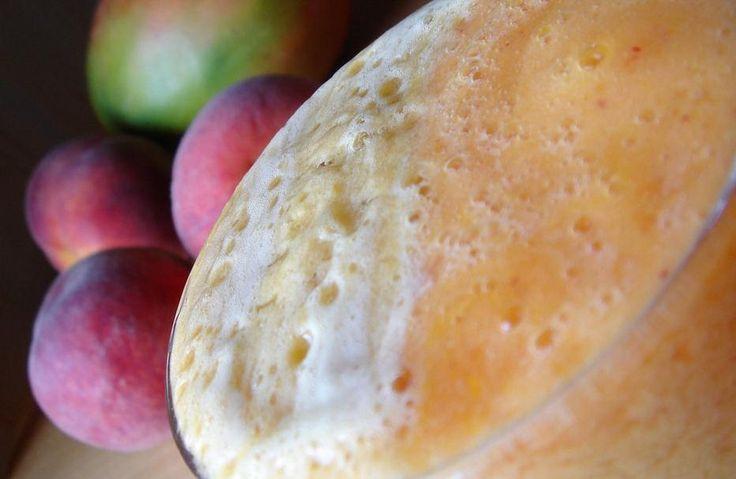 Los mejores zumos para el desayuno: Zumo de melocotón y mango