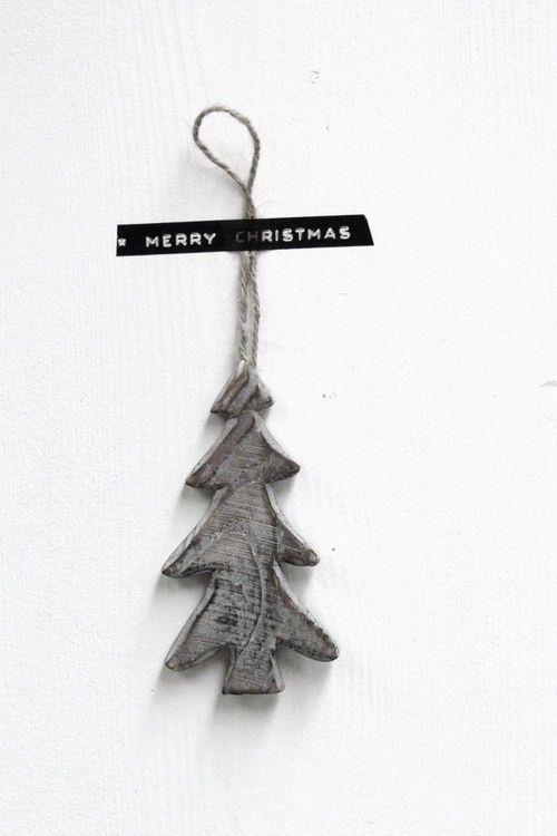 christmas tree black and white | Xmas decoration . Weihnachtsdekoration . décoration noël | @ zink & zo |