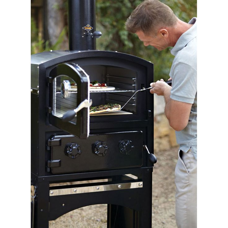 Wood Fire Pizza Oven Smoker Black by Alfresco Home | Thos. Baker