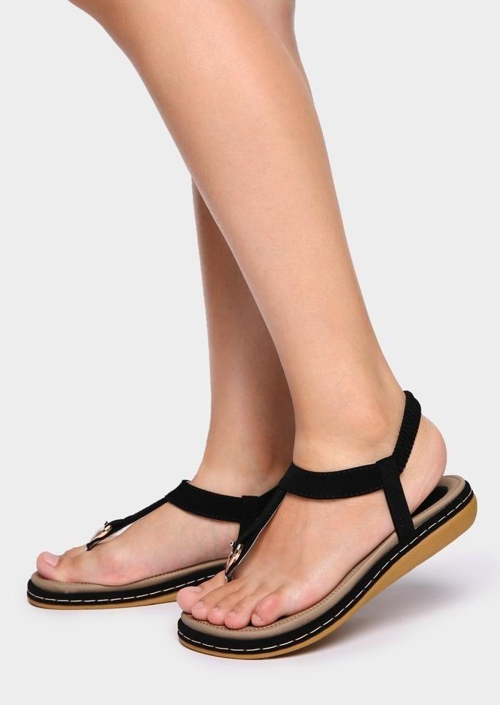 781bbe7580b  AdoreWe  FairySeason -  FairySeason Solid Elastic Band Flat Sandals -  AdoreWe.com