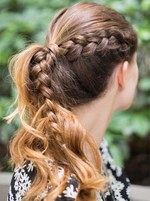 Side Braided Ponytail Hairstyles 2016 for Girls