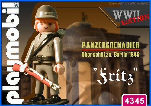 """Panzergrenadier """"Fritz"""" // The image and figures do not necessarily reflect the opinion of Playmobil. #playmobilcustom"""