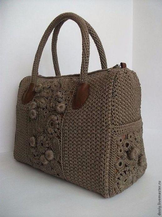 Вязаные сумки. Идеи   вязание крючком   Crochet, Crochet handbags и ... 8342a18908c
