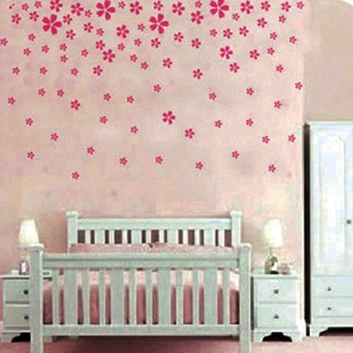 Pink Flower Wall Sticker Decal Nursery And Girlu0027s Room « Cheap Apartment  Decorating Part 94