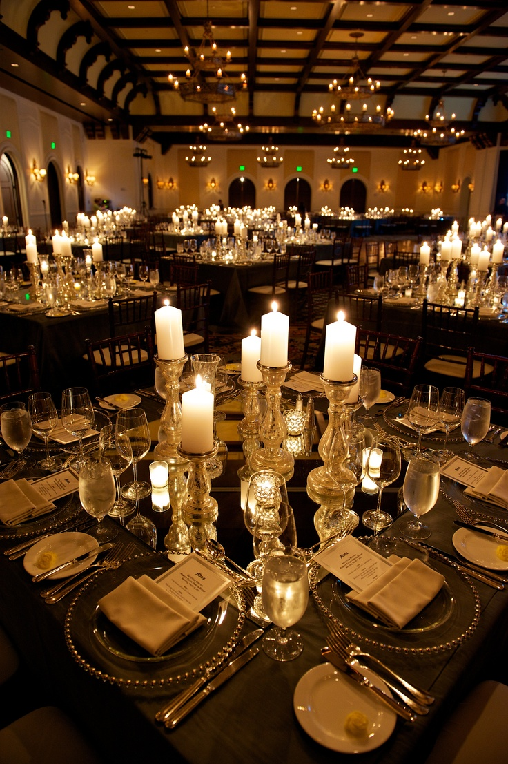 Candle Lit Dinner in the Cloister Ballroom    www.seaisland.com #seaisland #candledecor