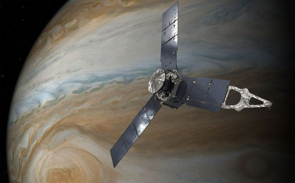 Juno Mission Prepares for Jupiter Flyby  NASA's Juno spacecraft will make its third science flyby of Jupiter on Sunday, December 11, at 9:04 a.m. PST. At the time of closest approach (called perijove), Juno will be about 2,580 miles (4,150 kilometers) above the gas giant's roiling cloud tops and traveling at a speed of about 129,000 mph (57.8 kilometers per second) […]  The post  Juno Mission Prepares for Jupiter Flyby  appeared first on  SciTech Daily .  http://scitechdaily.com/j..