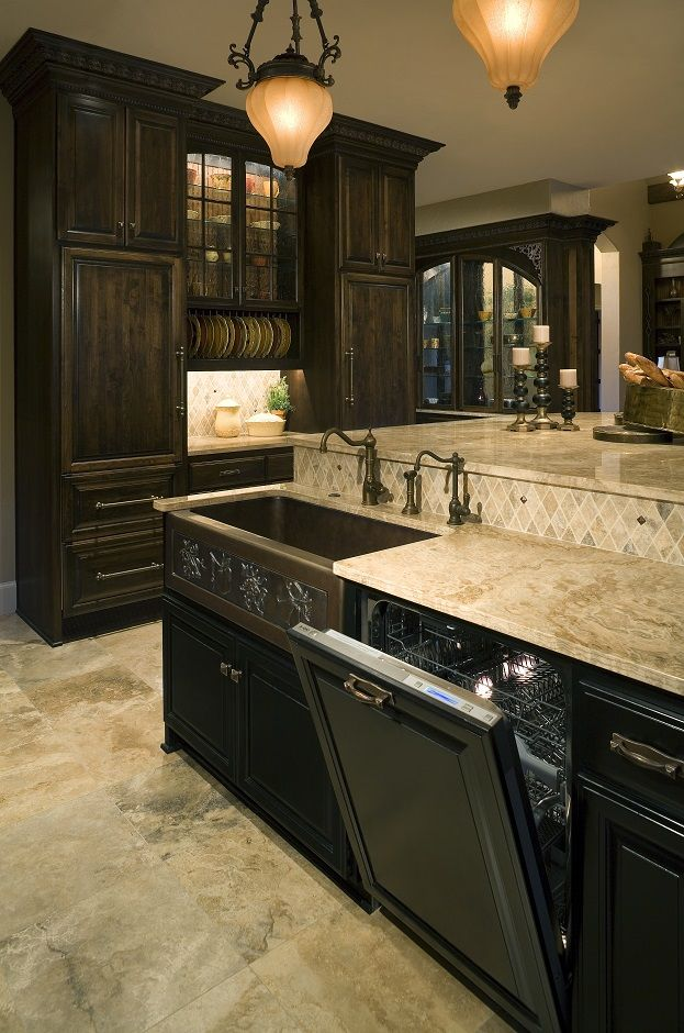 contemporary kitchen design with natural stone