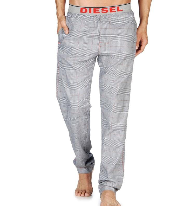 Pantalon Pijama DIESEL UMLB-DERIK White-b