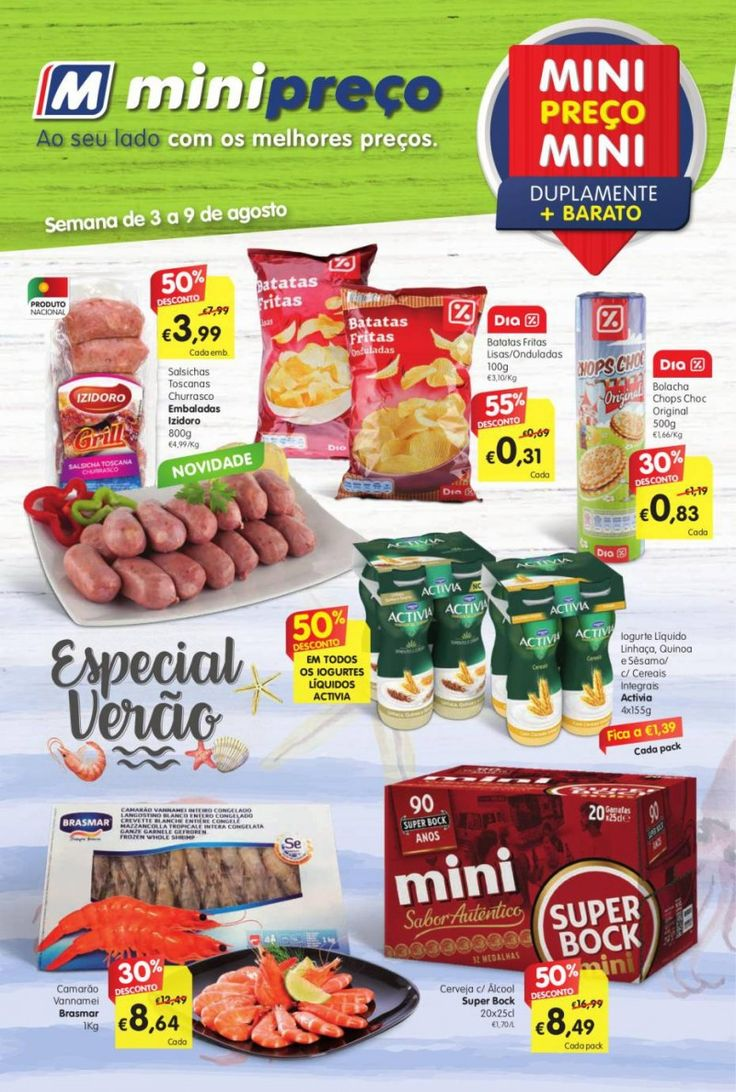 Folheto de promoções #Minipreço Nacional em vigor de 03 a 09 de Agosto. Especial Verão.