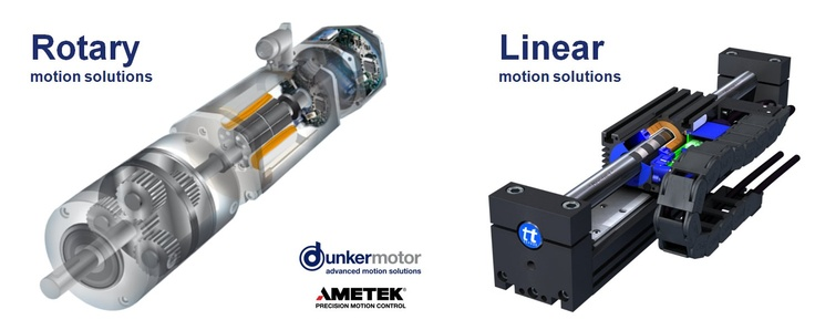 Dunkermotor's Rotary and Linear motion solutions. Dunkermotoren is now part of Ametek.