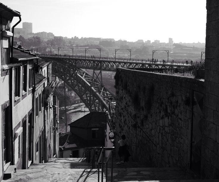 Porto, pont Dom Luis, photo prise par Valérie Coutrot.