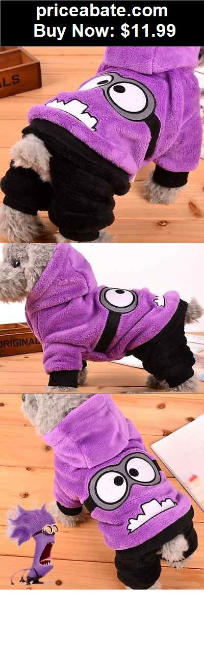 Animals-Dog: Purple Minion Winter Warm Coat Hoodie For Pet Dog Cute Purple Puppy Clothes - BUY IT NOW ONLY $11.99